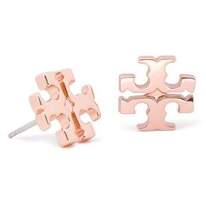 Tory Burch Rose Gold Earring Studs